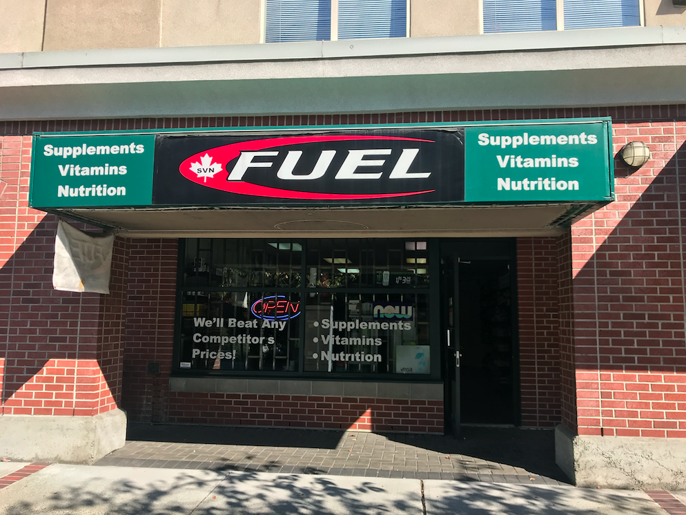 Fuel Supplements North Vancouver Storefront Photo in Lower Lonsdale