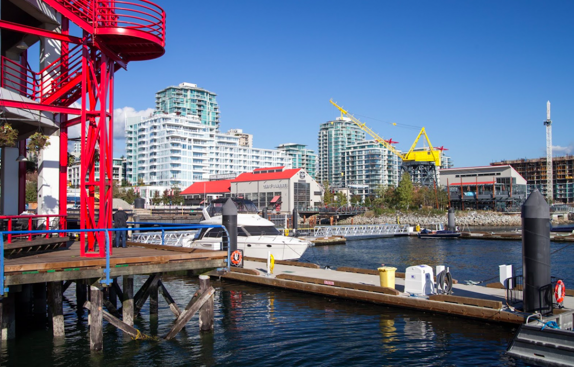 Lonsdale Quay Waterfront Boardwalk Market and Seabus North Vancouver