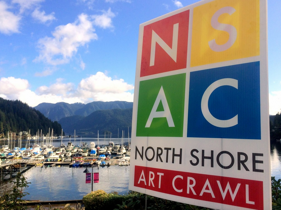 North Shore Art Crawl Sign Logo