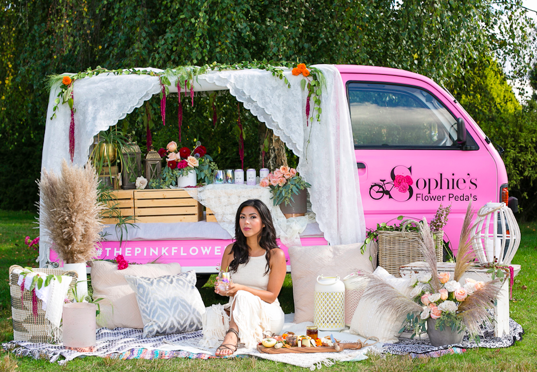Sophies Flower Pedals Mobile Boutique Design Consultant Wedding Birthday North Vancouver