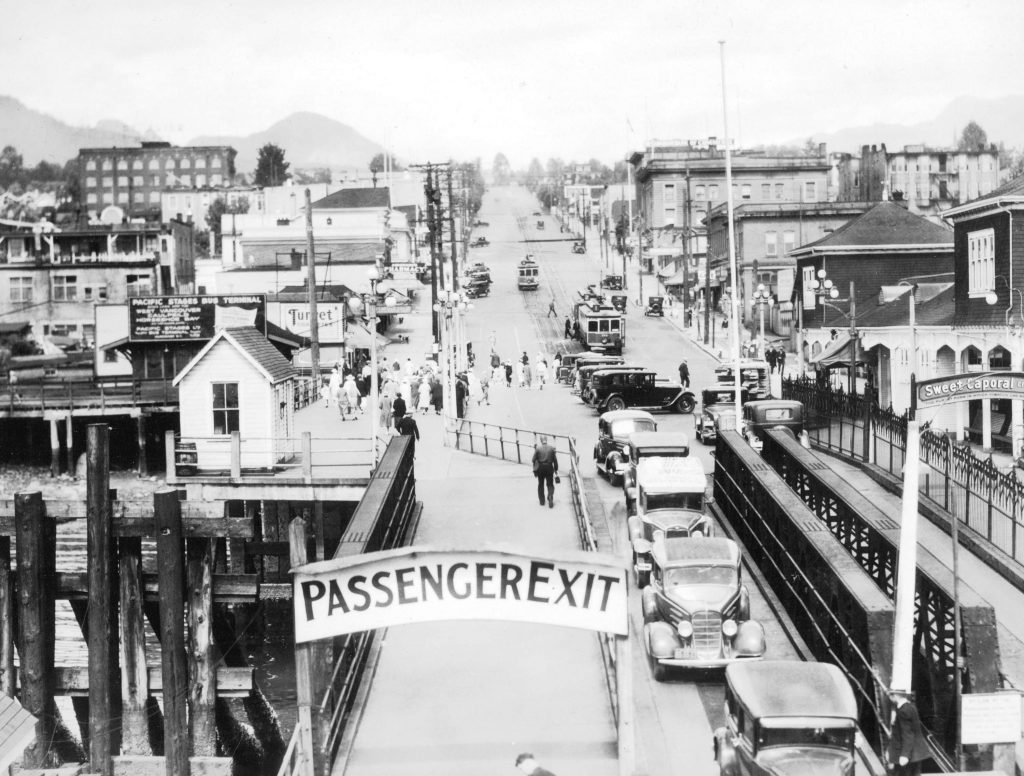 NVMA North Vancouver Museum Archives Lower Lonsdale Shipyards North Vancouver Ferry Passenger Exit