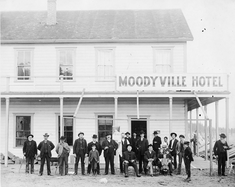 NVMA North Vancouver Museum Archives Lower Lonsdale Shipyards North Vancouver Moodyville Hotel 1863