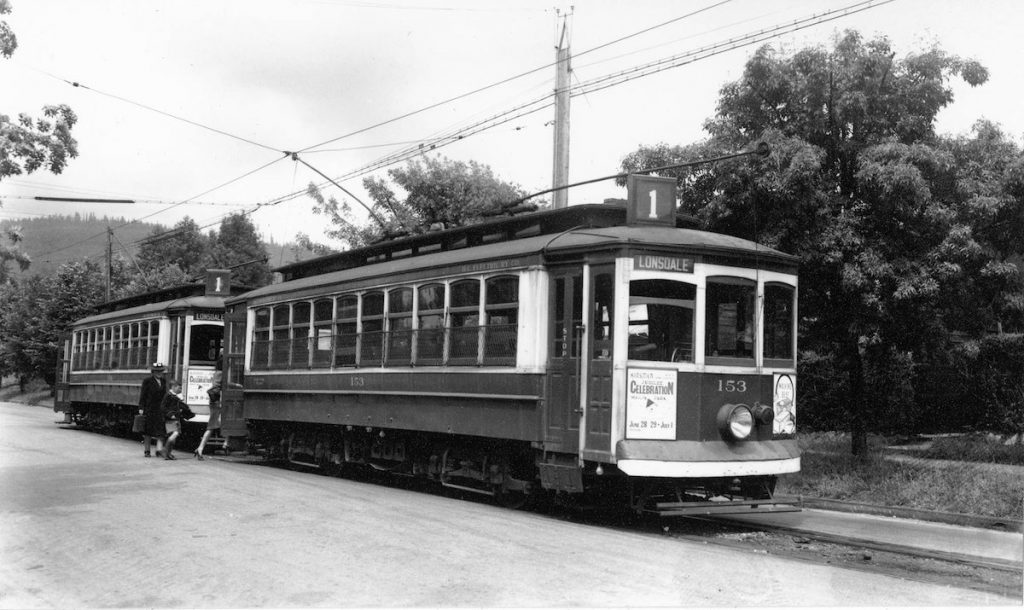 NVMA North Vancouver Museum Archives Lower Lonsdale Shipyards North Vancouver Streetcar 153