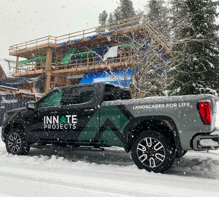 Snow Winter Landscaping North Vancouver British Columbia Canada with Innate Projects