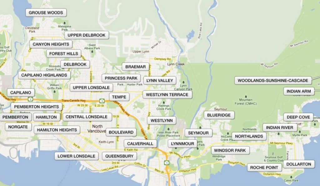 District of North Vancouver Neighbourhoods