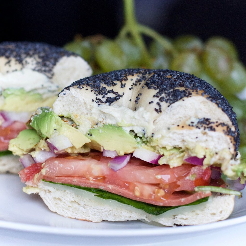 Mount Royal Bagels Factory Avocado Tomato
