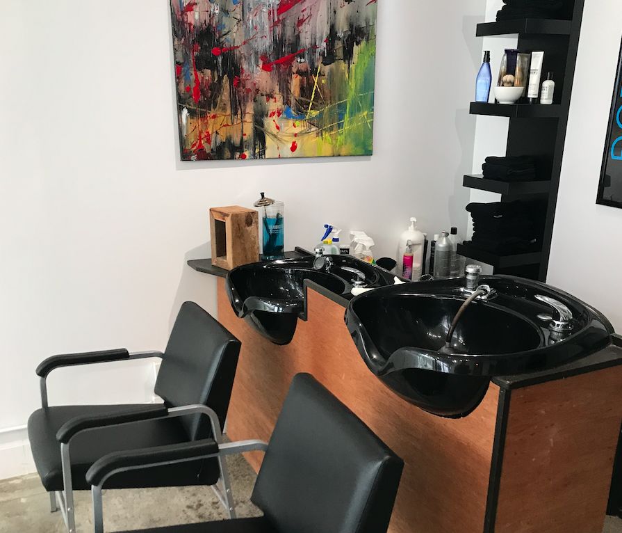 Sinks Washing Hair Salon Barber Shop Chair Rentals Job Work Central Lonsdale North Vancouver British Columbia Canada